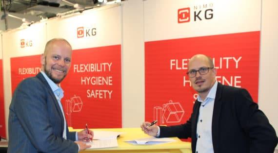 Industriföretaget Nimo-KG från skånska Kågeröd har skrivit ett exklusivt avtal med en ny internationell samarbetspartner, Sæplast.