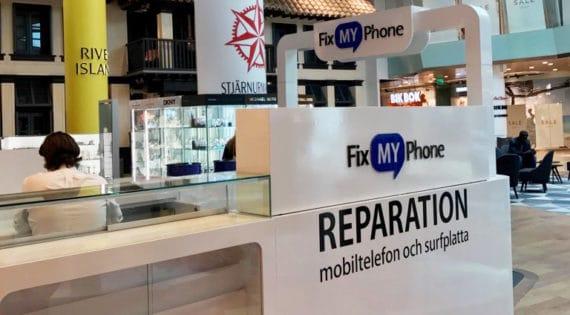 Fix My Phone öppnar nu sin nionde Stockholmsbutik i Gallerian mitt i centrala Stockholm, som varje dag lockar cirka 50000 besökare.