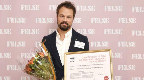 Pristagaren dr Mathias Karlsson