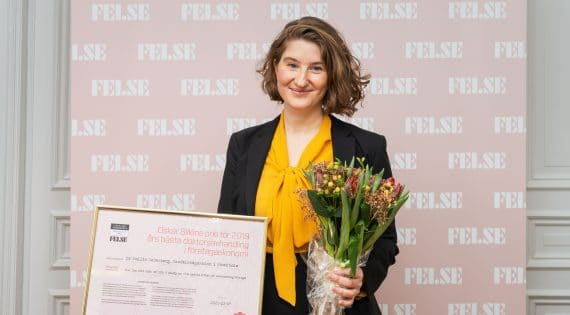 Dr Emilia Cederberg vinnare av Oskar Sillén 2020